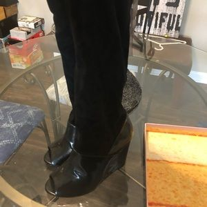 Jeffrey Campbell Open Toed Wedged Boots